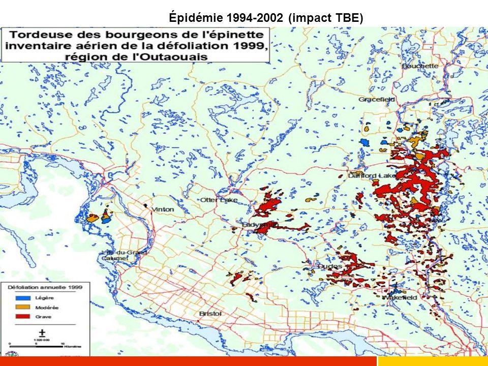 Épidémie 1994-2002 (impact TBE)