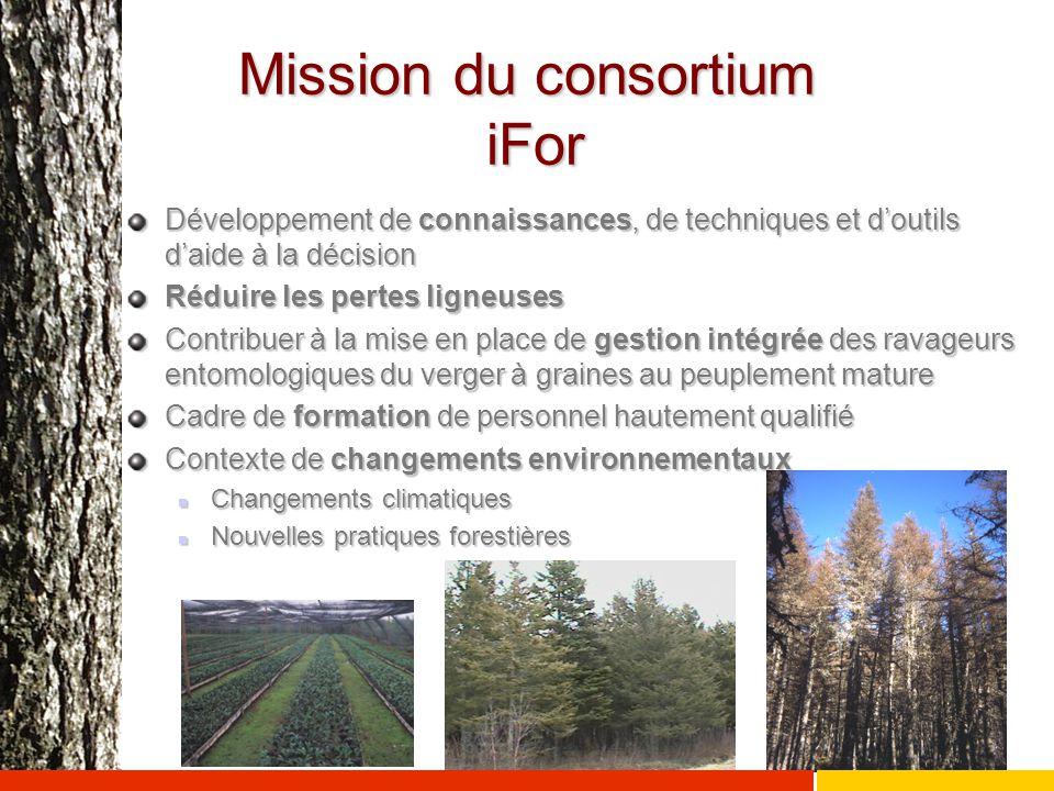 Mission du consortium iFor Développement de connaissances, de techniques et d'outils d'aide à la décision Réduire les pertes ligneuses Contribuer à la
