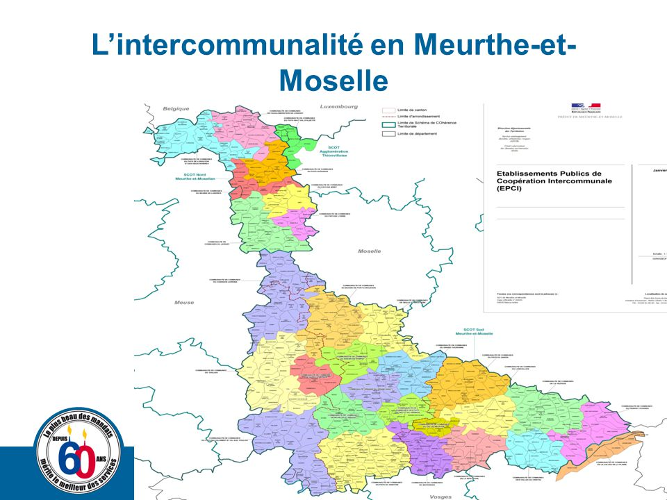 L'intercommunalité en Meurthe-et- Moselle