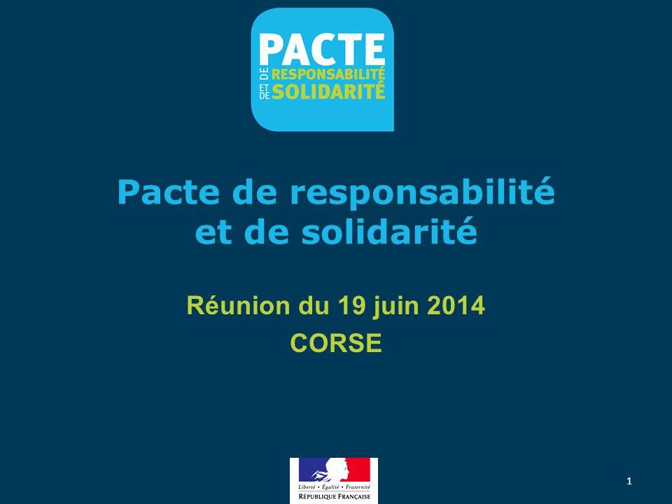 Pacte de responsabilité et de solidarité Réunion du 19 juin 2014 CORSE 1