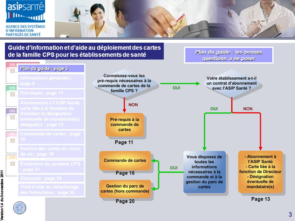 Guide d'information et d'aide au déploiement des cartes de la famille CPS pour les établissements de santé 3 Page 20 Page 20 Page 16 Page 16 Page 13 P