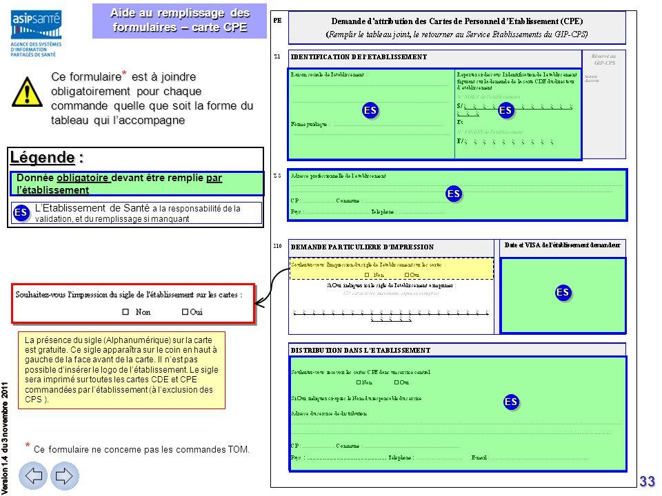 33 Donnée obligatoire devant être remplie par l'établissement La présence du sigle (Alphanumérique) sur la carte est gratuite. Ce sigle apparaîtra sur