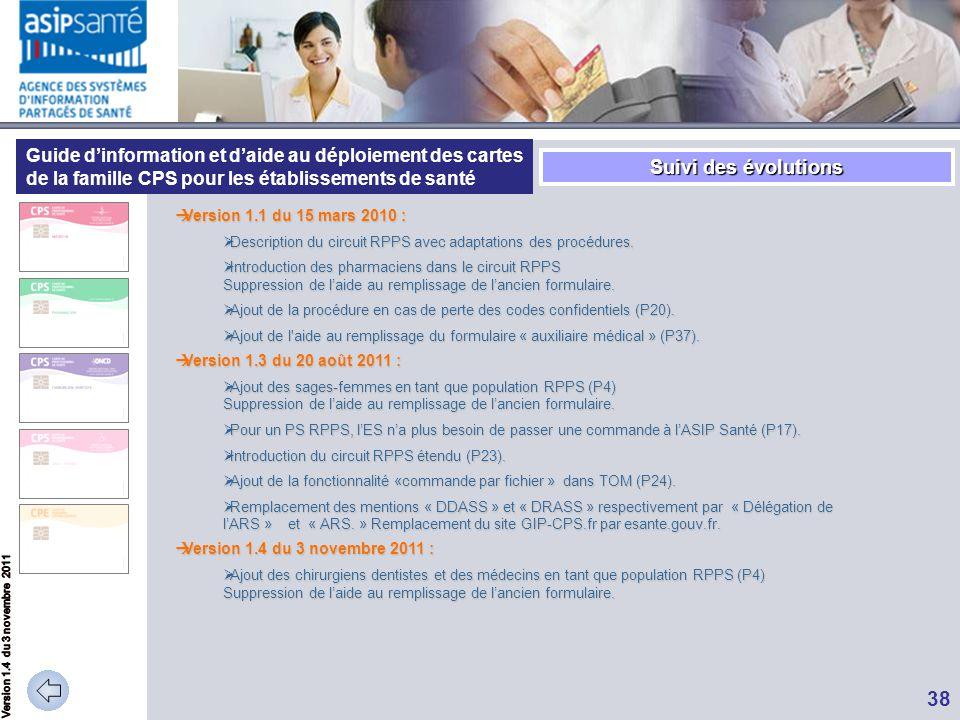 Guide d'information et d'aide au déploiement des cartes de la famille CPS pour les établissements de santé  Version 1.1 du 15 mars 2010 :  Descripti