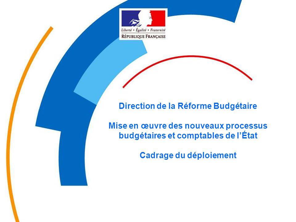 1 MINEFI – DRB - novembre 04 Direction de la Réforme Budgétaire Mise en œuvre des nouveaux processus budgétaires et comptables de l'État Cadrage du dé