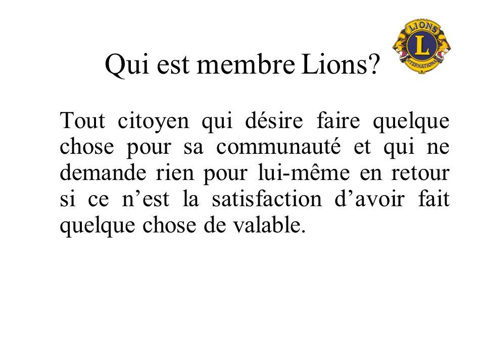 Pas un club social, mais …. Les Lions ont du plaisir à travailler ensemble Se font des amis à travers le monde Sont accueillis à toute rencontre de Li