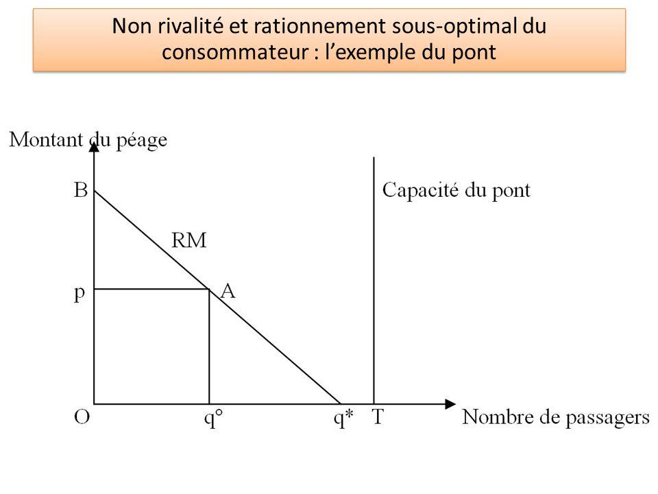 © jeromevillion.free.fr Non rivalité et rationnement sous-optimal du consommateur : l'exemple du pont