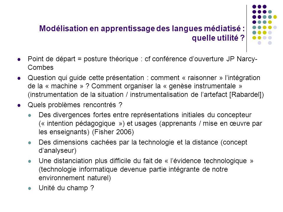 Modélisation en apprentissage des langues médiatisé : quelle utilité .