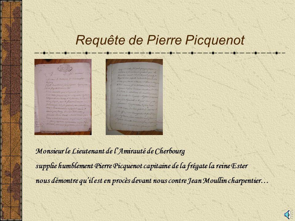 Accusations contre le sieur Moullin constructeur de navire 1P2 65 Service Historique de la Marine à Cherbourg