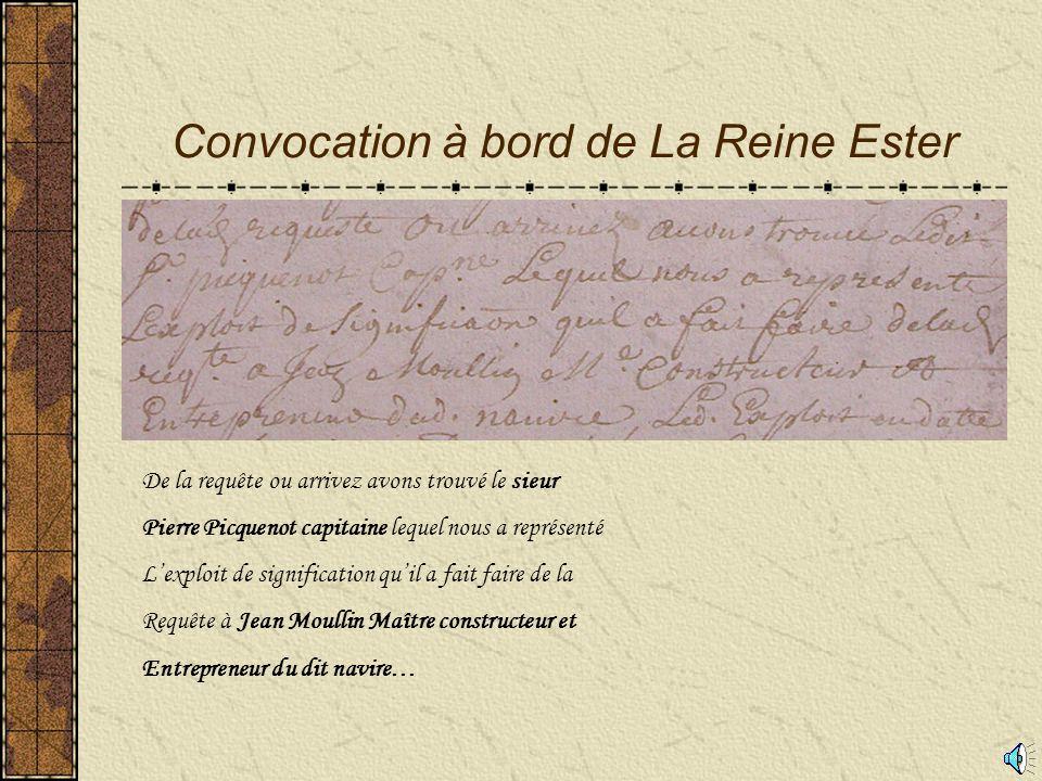 Le premier jour de janvier 1759 Jean Charles Guillaume Vigier Huissier en l'Amirauté de France
