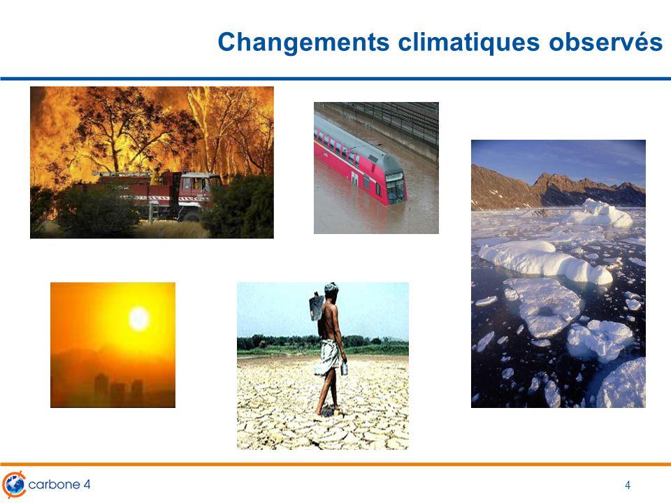 Changements climatiques observés 4