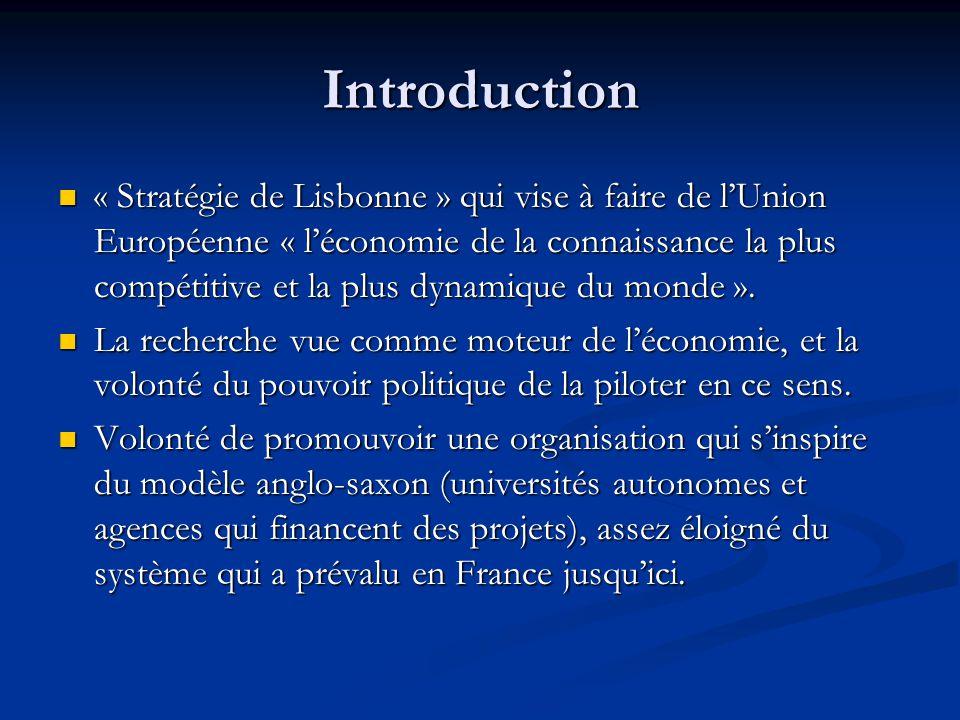 Introduction « Stratégie de Lisbonne » qui vise à faire de l'Union Européenne « l'économie de la connaissance la plus compétitive et la plus dynamique