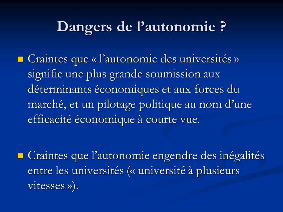 Dangers de l'autonomie .