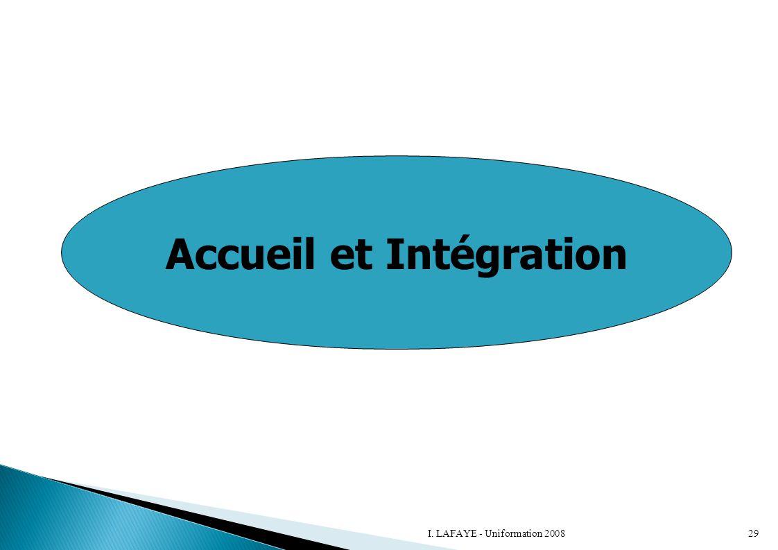 Accueil et Intégration 29I. LAFAYE - Uniformation 2008