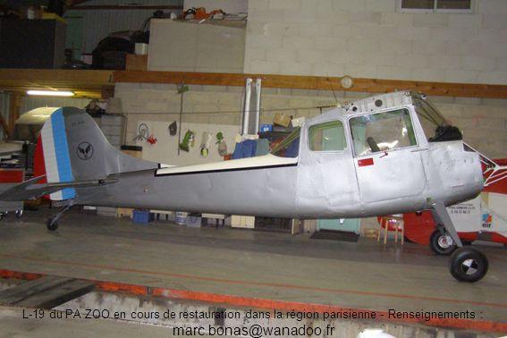 L-19 du PA ZOO en cours de restauration dans la région parisienne - Renseignements : marc.bonas@wanadoo.fr
