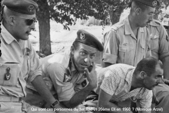 Qui sont ces personnes du 1er PMAH 20ème DI en 1960 ? (Monique Arzel)