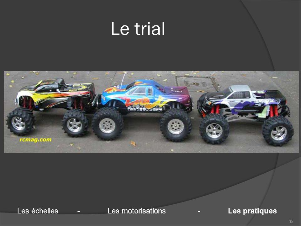 Le trial 12 Les échelles-Les motorisations-Les pratiques