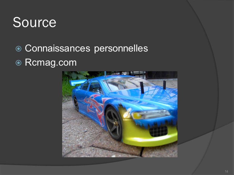 Source  Connaissances personnelles  Rcmag.com 14