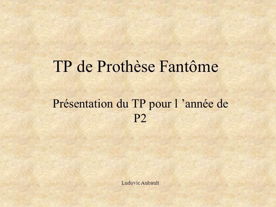 TP de Prothèse Fantôme Présentation du TP pour l 'année de P2 Ludovic Aubault