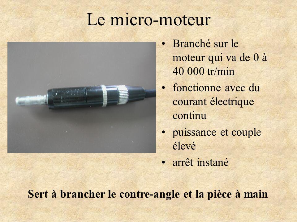Le micro-moteur Branché sur le moteur qui va de 0 à 40 000 tr/min fonctionne avec du courant électrique continu puissance et couple élevé arrêt instan