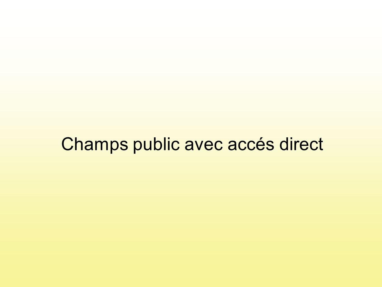 Champs public avec accés direct
