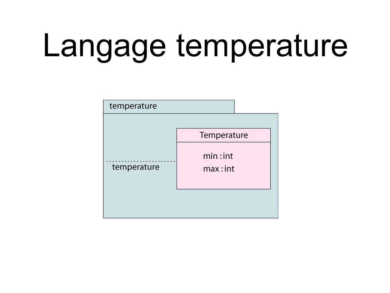 Langage temperature