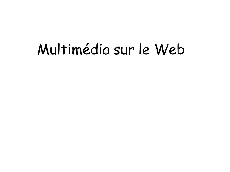 Multimédia sur le Web