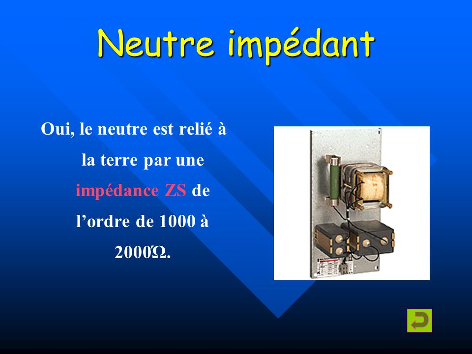 Isolé Oui, aucune liaison électrique du neutre par rapport à la terre.