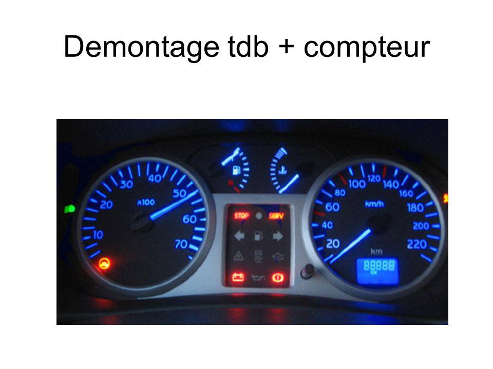 Demontage tdb + compteur
