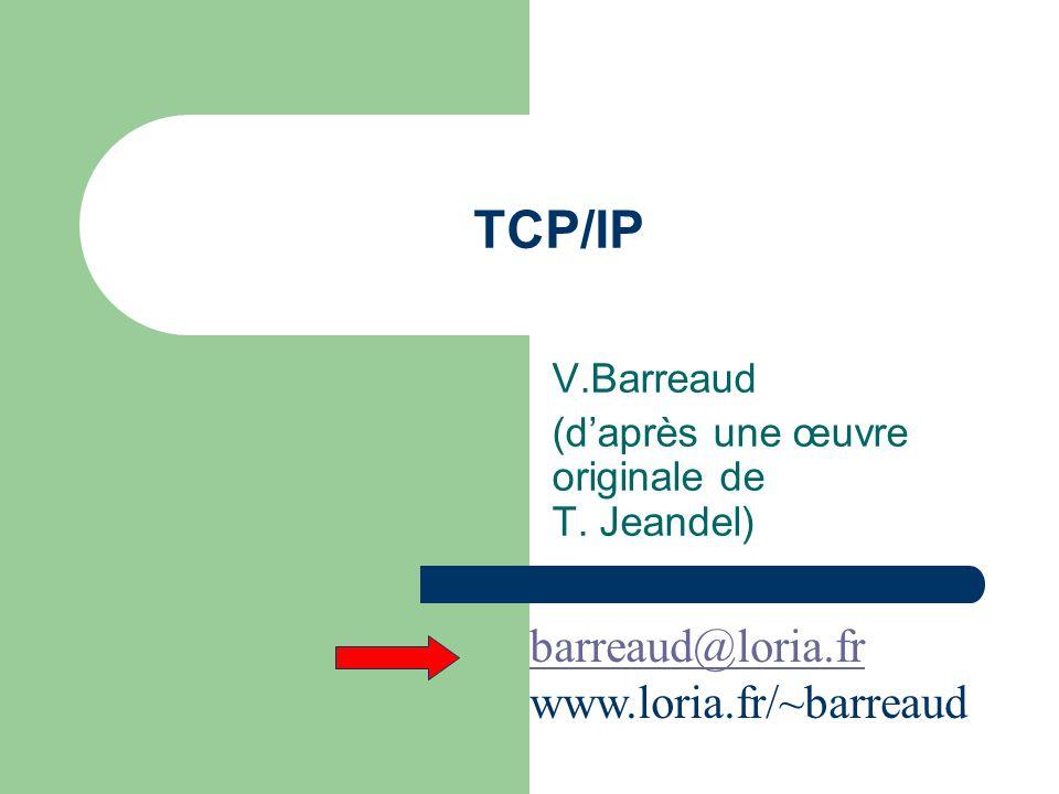 Encapsulation Données utilisateur Entête applicatif Données applicatives Entête TCP Entête IP Données applicatives Entête TCP Entête IP Données applicatives Entête TCP Entête Ethernet Remorque Ethernet Segment TCP datagramme IP Trame Ethernet Application TCP IP Driver Ethernet