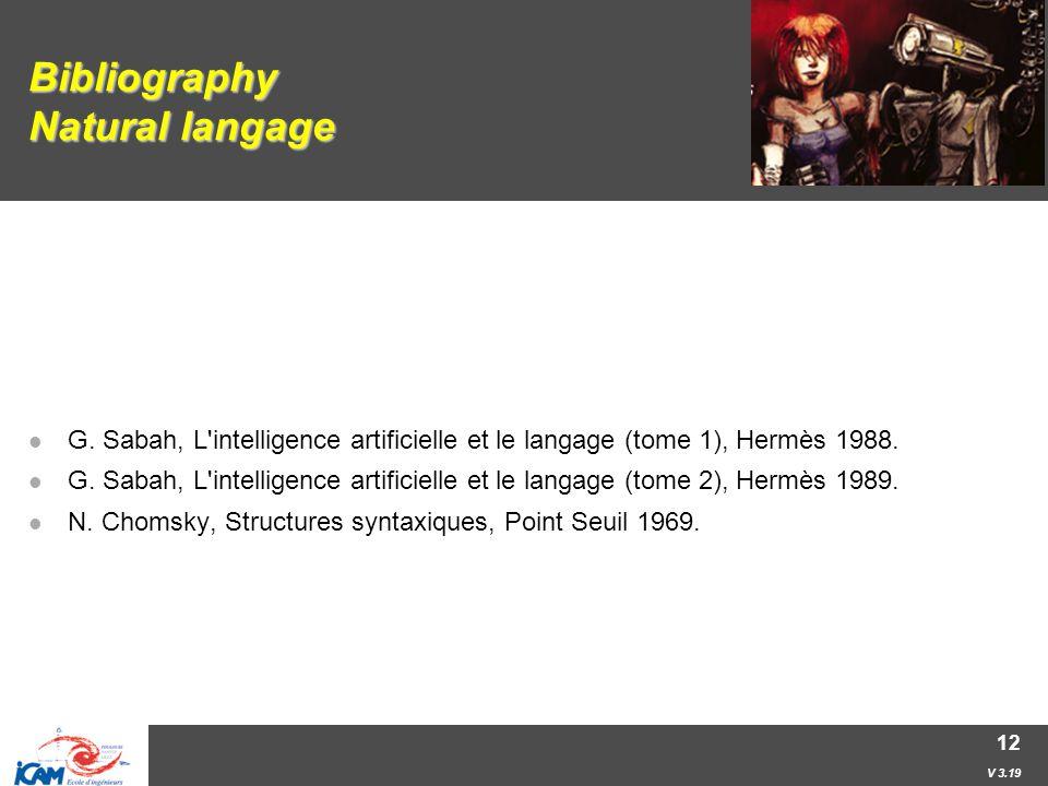 V 3.19 12 Bibliography Natural langage G.