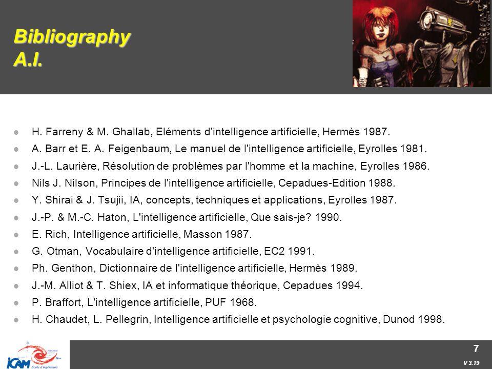 V 3.19 7 Bibliography A.I. H. Farreny & M.