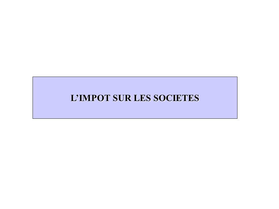 L'IMPOT SUR LES SOCIETES