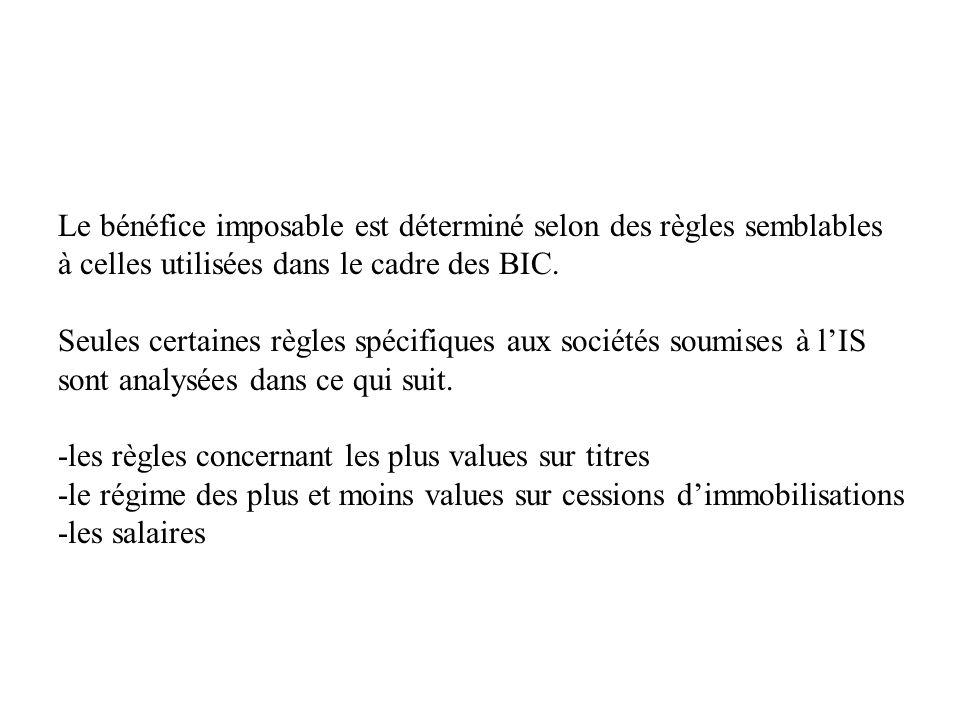 Le bénéfice imposable est déterminé selon des règles semblables à celles utilisées dans le cadre des BIC.