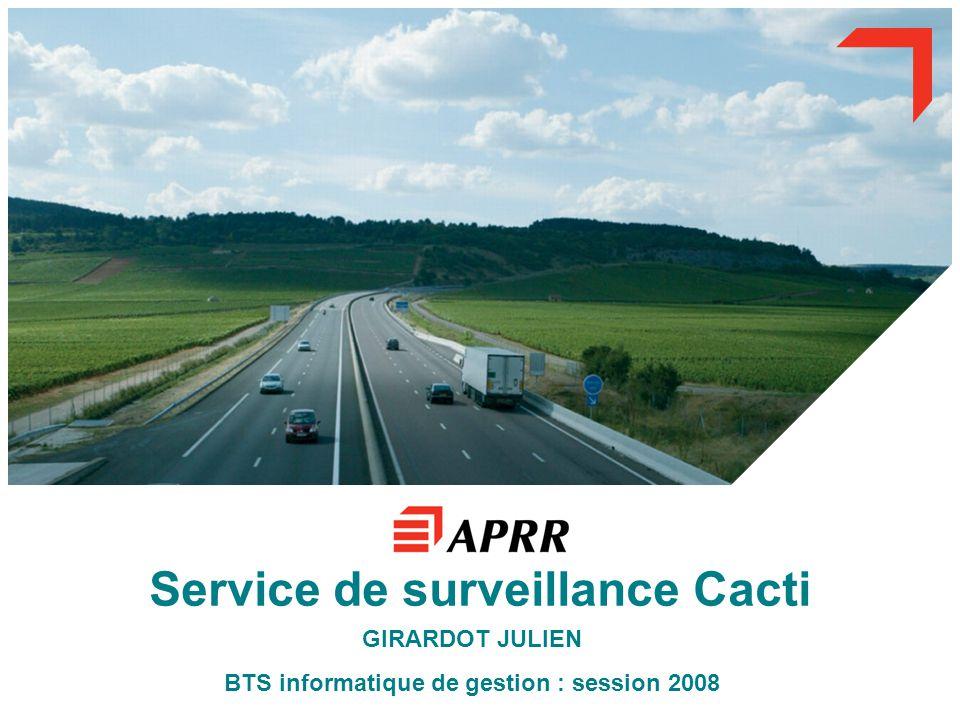 Service de surveillance Cacti GIRARDOT JULIEN BTS informatique de gestion : session 2008