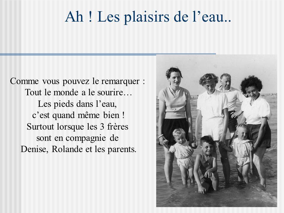 Nos vacances avec les parents Notre premier séjour sous tente, l'année suivante : Nous traversions la France pour assister au centenaire de Lourdes