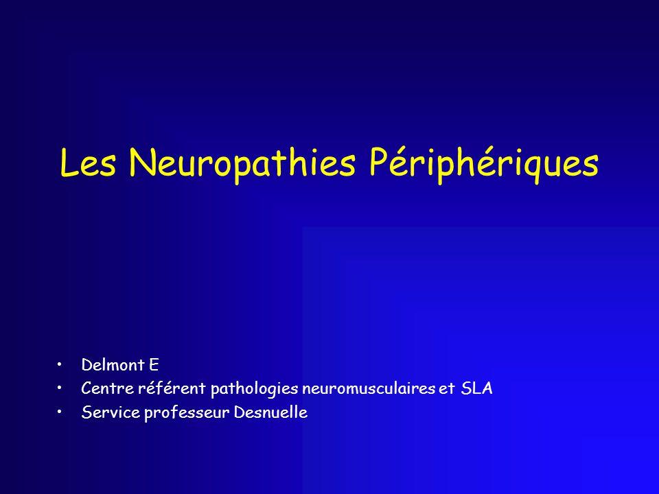 Les Neuropathies Périphériques Delmont E Centre référent pathologies neuromusculaires et SLA Service professeur Desnuelle