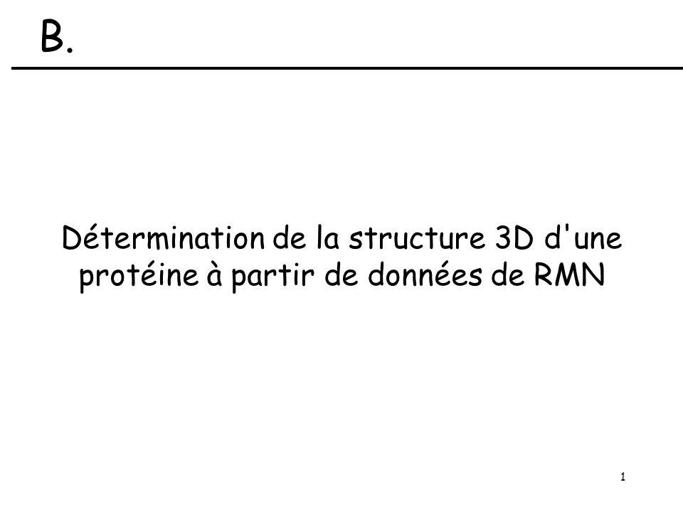 1 Détermination de la structure 3D d une protéine à partir de données de RMN B.