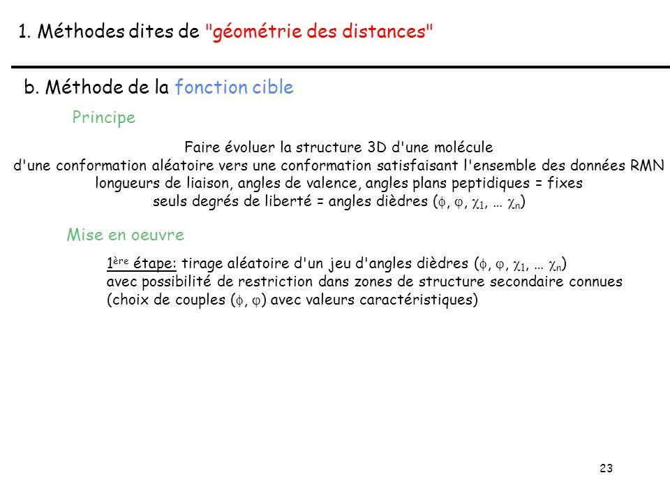 23 1. Méthodes dites de géométrie des distances b.