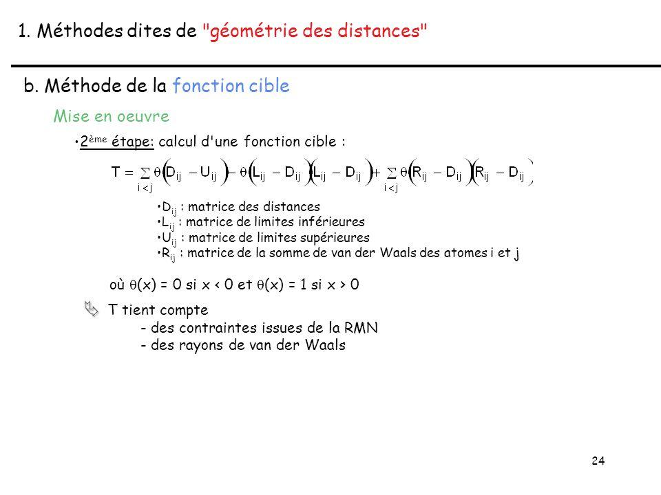 24 1. Méthodes dites de géométrie des distances b.