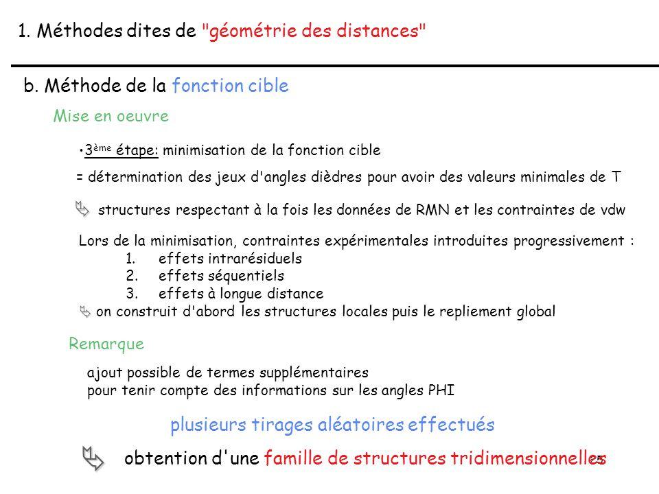 25 1. Méthodes dites de géométrie des distances b.