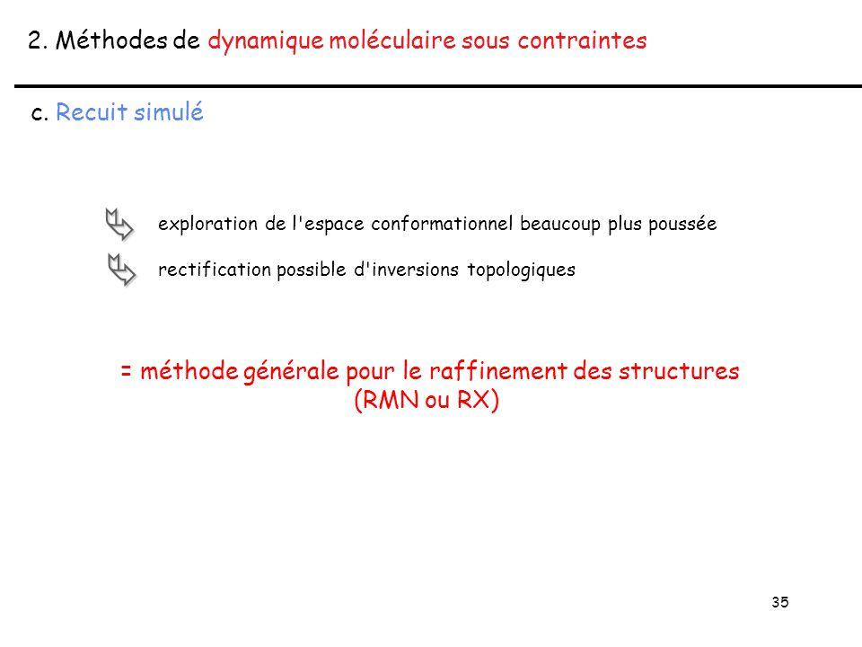 35 2. Méthodes de dynamique moléculaire sous contraintes c.