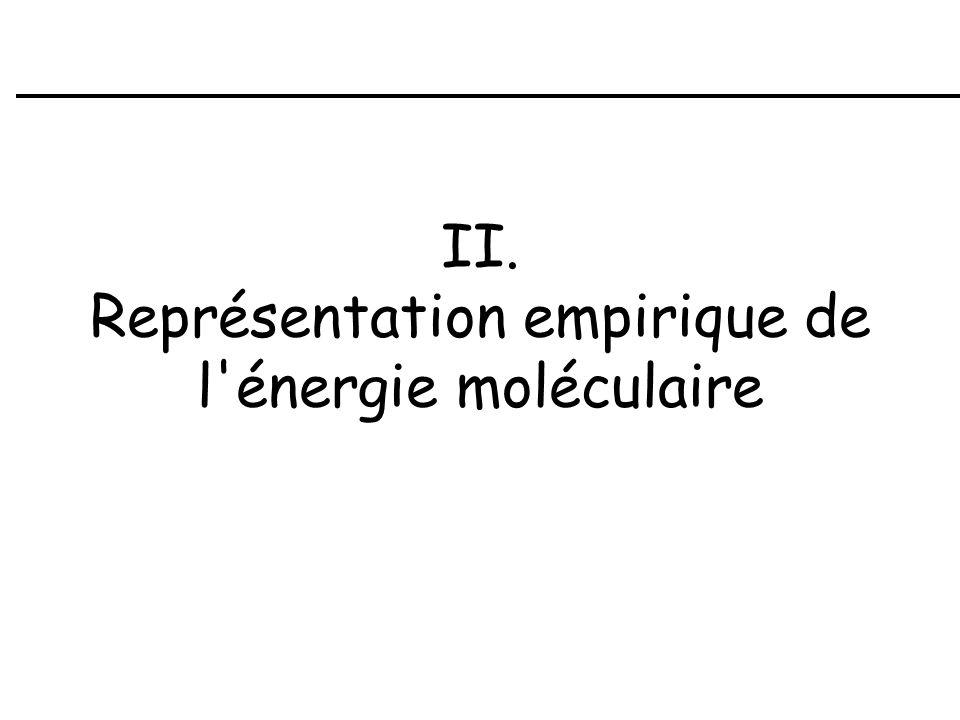 II. Représentation empirique de l'énergie moléculaire
