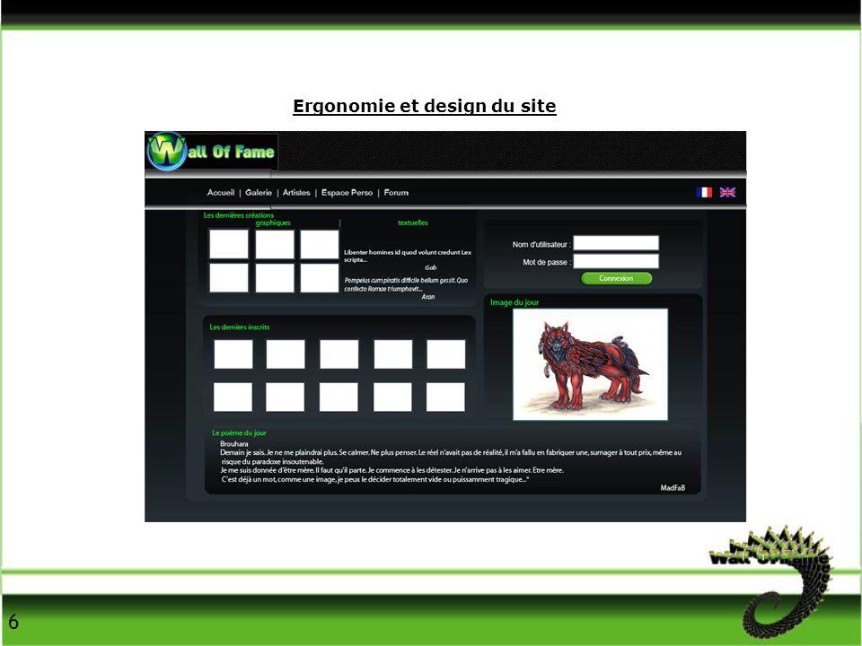 Ergonomie et design du site 6
