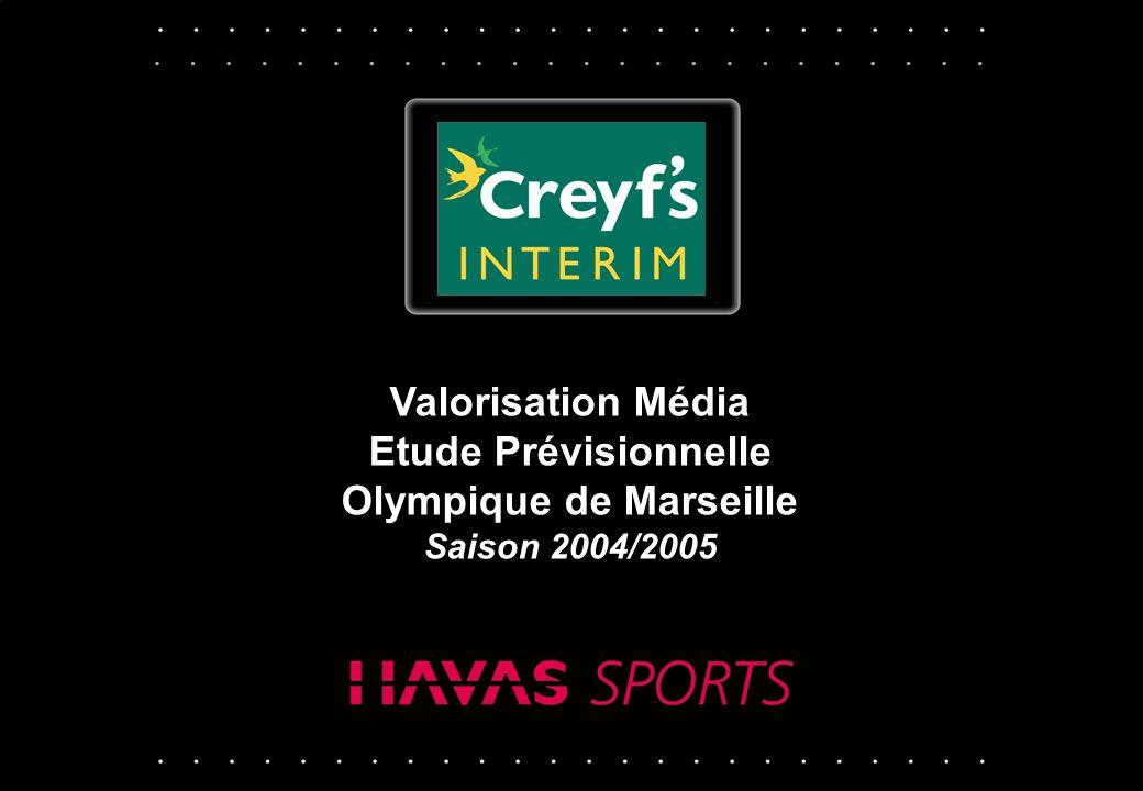 © Havas Sports - Juillet 2004 - p 1 Valorisation Média Etude Prévisionnelle Olympique de Marseille Saison 2004/2005