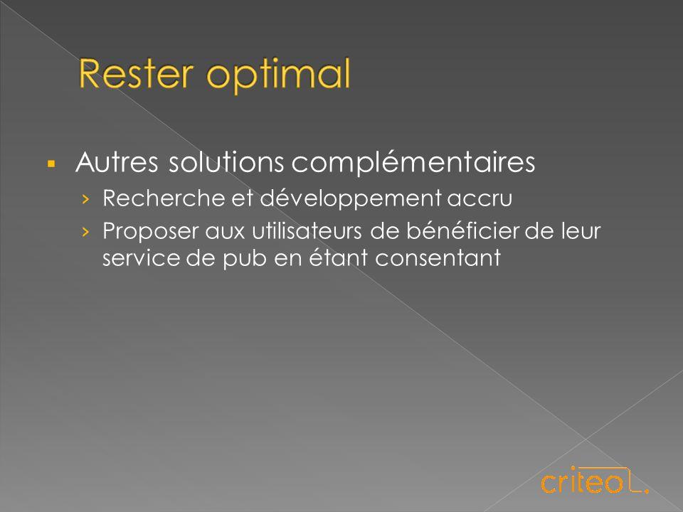  Autres solutions complémentaires › Recherche et développement accru › Proposer aux utilisateurs de bénéficier de leur service de pub en étant consen