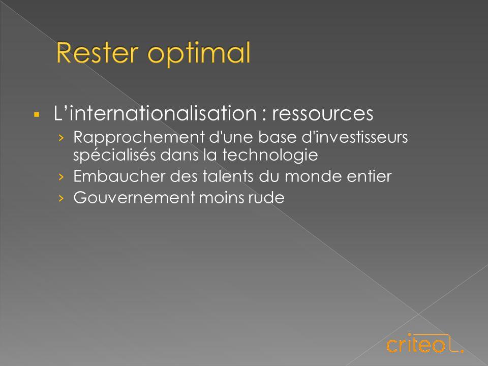  L'internationalisation : ressources › Rapprochement d une base d investisseurs spécialisés dans la technologie › Embaucher des talents du monde entier › Gouvernement moins rude