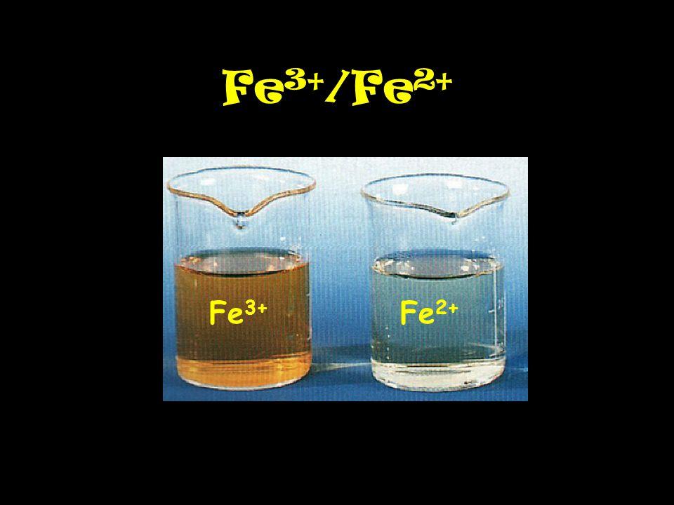 Fe 3+ /Fe 2+ Fe 3+ Fe 2+