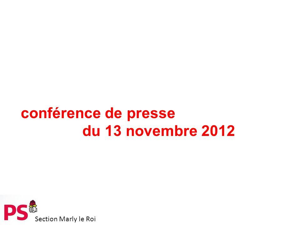 Section Marly le Roi conférence de presse du 13 novembre 2012