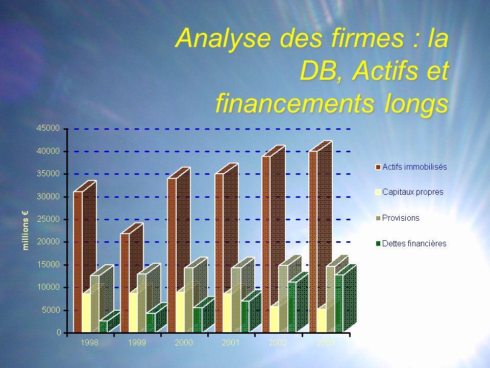 Analyse des firmes : la DB, Actifs et financements longs
