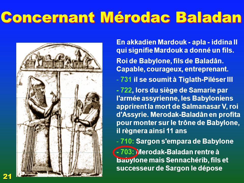 3 La Babylonie 3 L'EPREUVE EZECHIAS 21